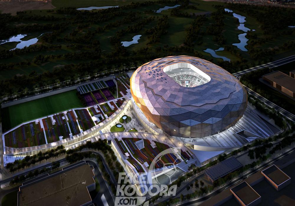 قطر تكشف عن ملعب جوهرة الصحراء فيس كووورة